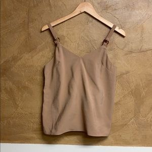 NWT Topshop Tan Cami Top